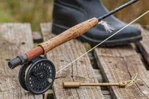 Fly fishing rod and boot