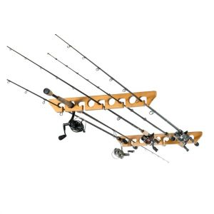 Horizontal fishing rod holder