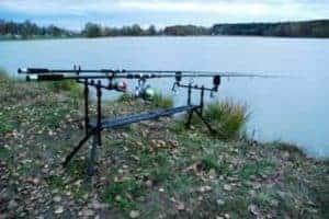 Metal fishing rod holder