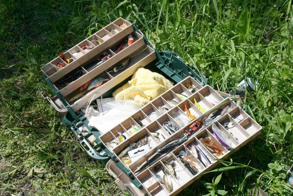 Clean fishing tackle box