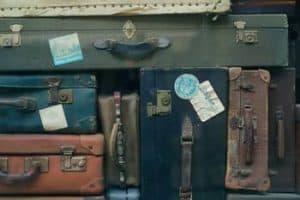 Stacked luggage