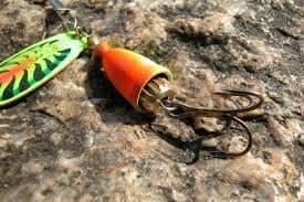 Orange fishing lure