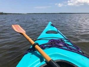 POV in blue kayak