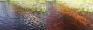 water difference with and without sunglasses