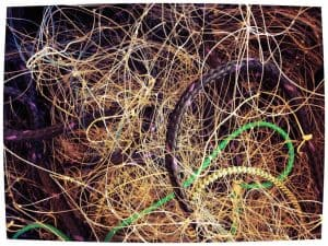Tangled fishing line