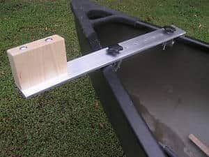 Wood kayak trolling motor mount