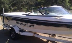 MasterCraft boat on trailer