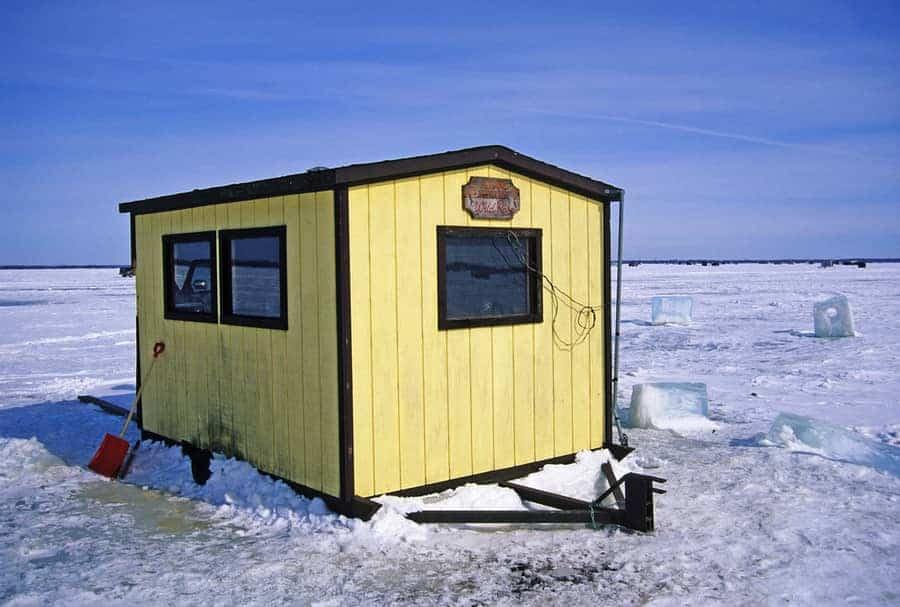 yellow ice shelter