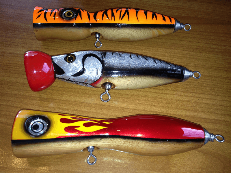 Three bass lures